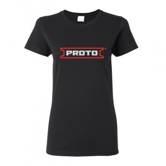 Proto Women's Ultra Cotton 6 oz. T-Shirt - Black
