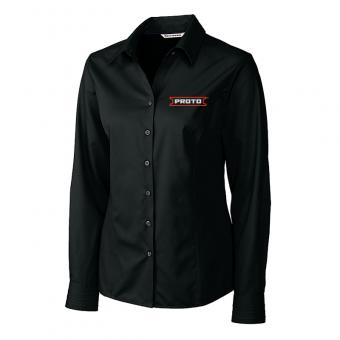 Proto Women's Cutter & Buck Long Sleeve Fine Twill Shirt - Black