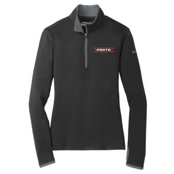 Proto Women's Nike 1/4 Zip Pullover - Black/Dark Grey